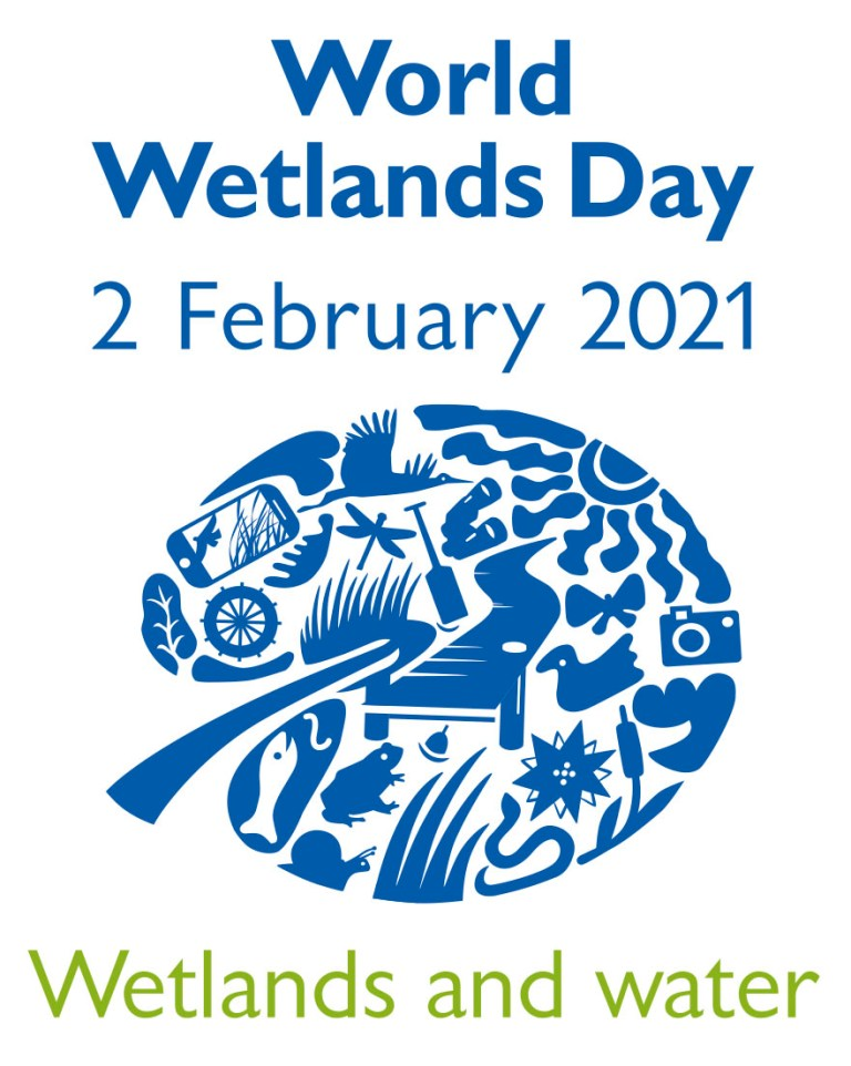 Logo of World Wetlands Day 2021