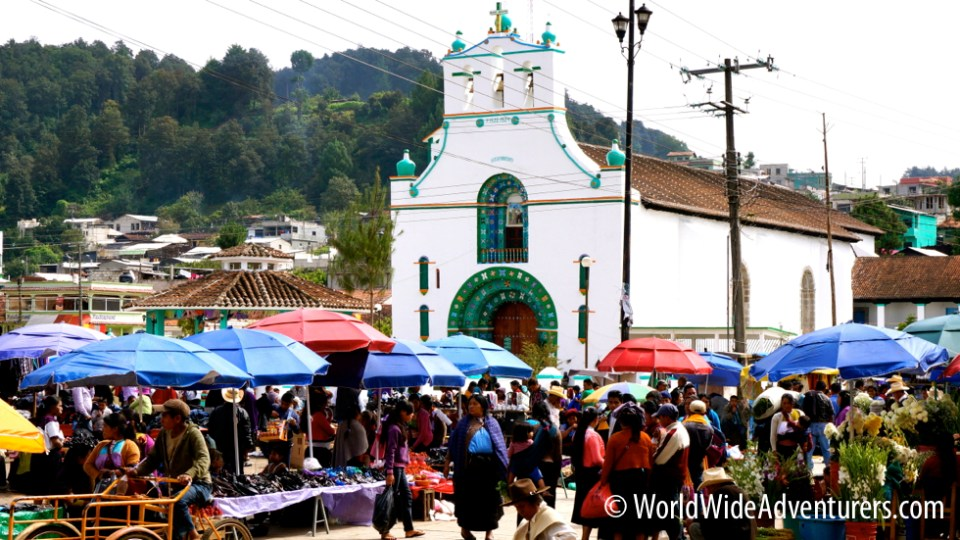 The Market and Church San Juan Chamula