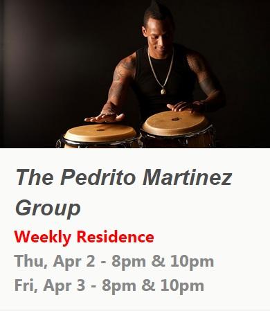 02 y 03 de abril - Pedrito Martínez Group en el club Subrosa de Nueva York