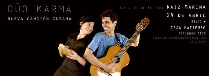 24 de abril - Dúo Karma en Casa Matienzo de Buenos Aires, CABA