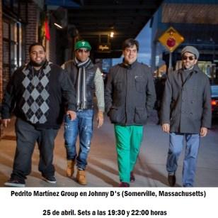 25 de abril - Pedrito Martínez Group en Johnny D's de Somerville, Massachusetts
