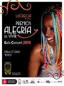 27 de abril - Lucrecia en los Premios Alegría de Vivir en Barcelona, Cataluña