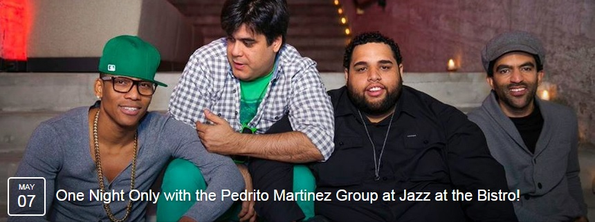 07 de mayo - Pedrito Martínez Group en Jazz at the Bistro en St. Louis, Missouri