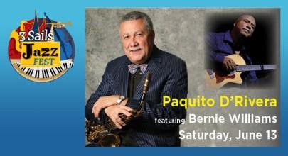 13 de junio - Paquito D'Rivera en el 3 Sails Jazz Festival de Toms River, Nueva Jersey