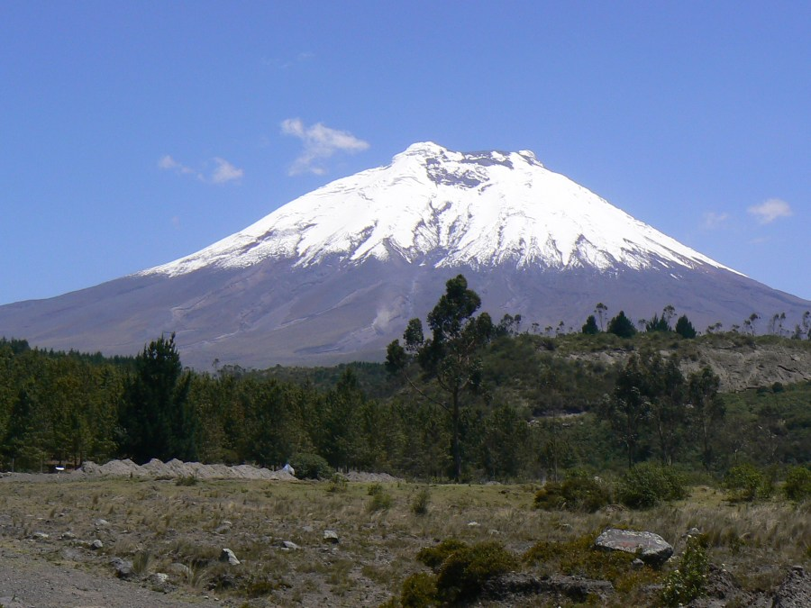 The perfect volcano cone, Cotopaxi.