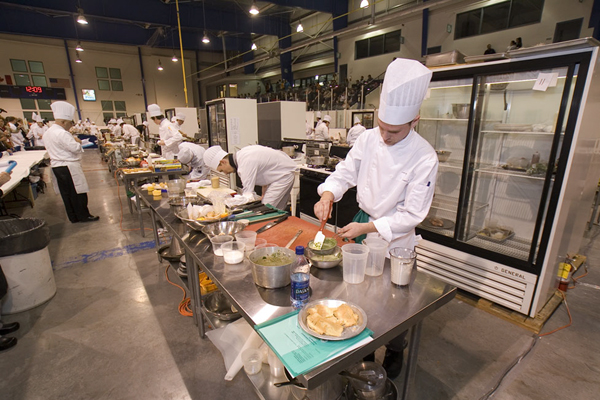 Cooks do their best at the annual Skills Canada-Ontario provincial skill competitions held in Waterloo Ontario