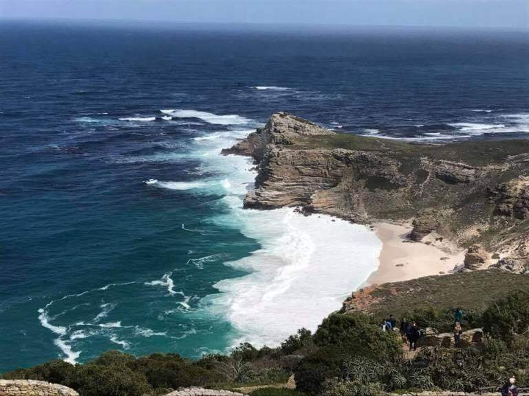 beach and waves at Cape of Good Hope Nature Reserve