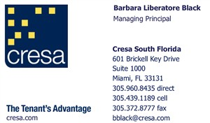 Liberatore Black, Barbara - Business Card