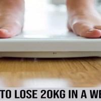 如何减掉20公斤一个星期