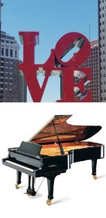 Pianos for Sale in Philadelphia at the famous LOVE sign