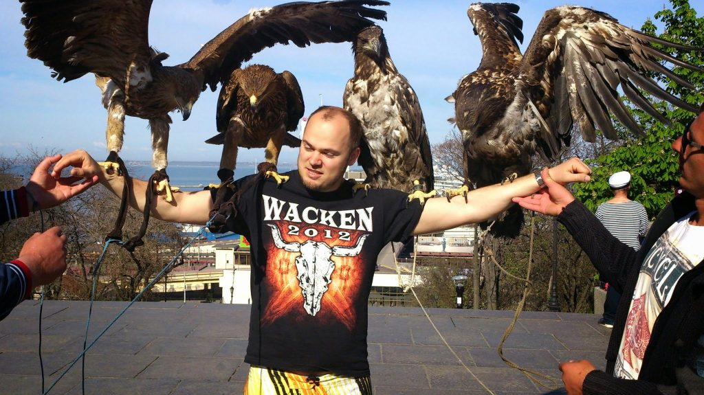 Eagles on my arms in Ukraine