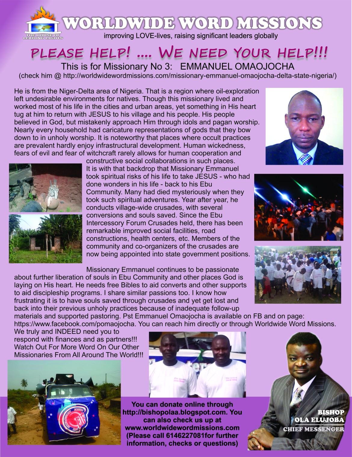wwwmissions help flier - emmanuel omaojocha