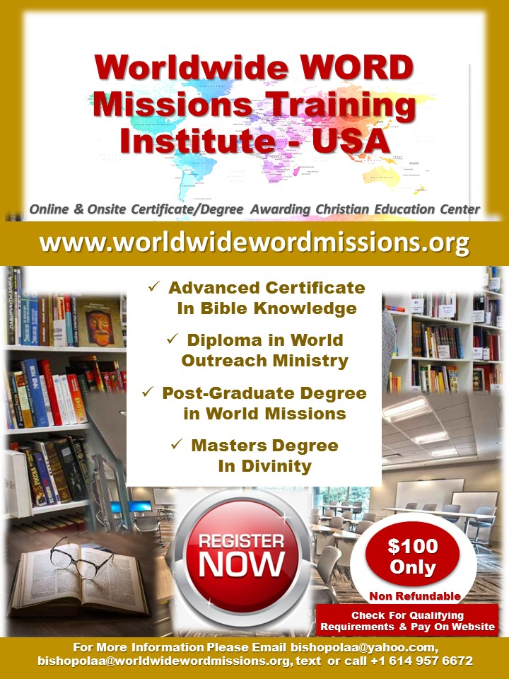 Worldwide WORD Missions Training Institute 3