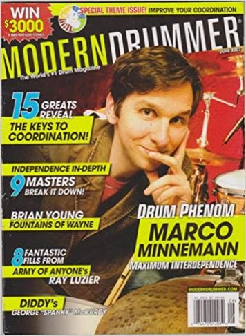 Marco Minnemann MD Cover June 2007