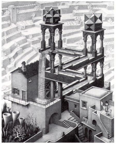 The World of MC Escher: Waterfall