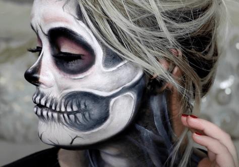 skull make up tutorial