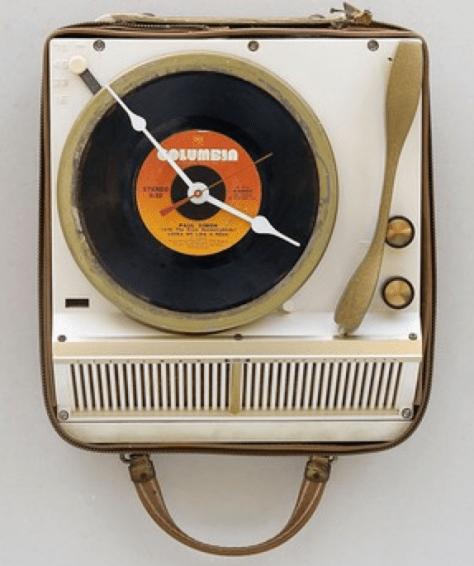 45 rpm turntable clock