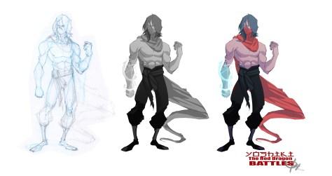 Blood Red Dragon Sketch Progression