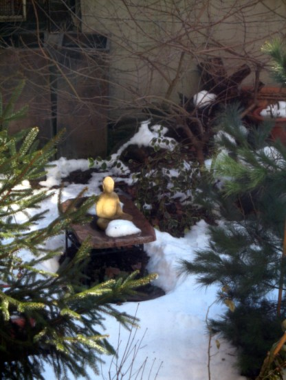 Photo of a Buddha in the Snow By Ula Einstein