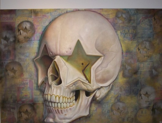 Ron English Star Skull Street