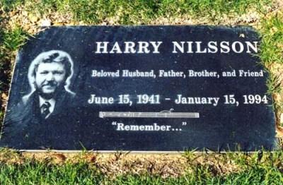 Harry Nilsson Grave Stone