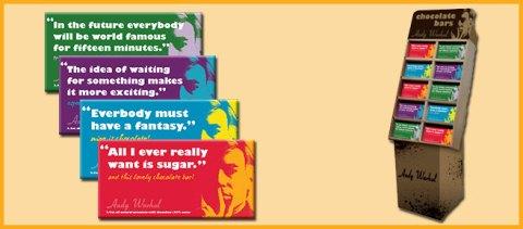 Andy Warhol Chocolate Bars Packaging Display