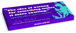 Andy Warhol Chocolate Bars Packaging Idea of Waiting Quote