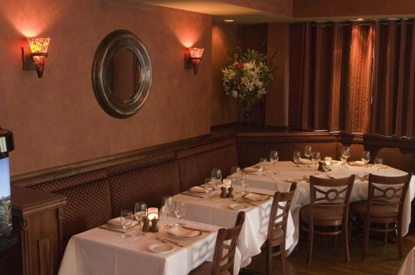 Dining Room Detail at Christos Steak House