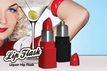 Lipstick Hip Flask Ad
