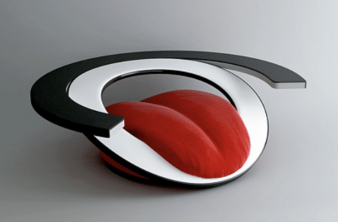 tongue armchair