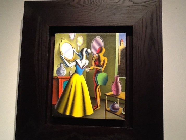 Mark Kostabi Girl at Mirror