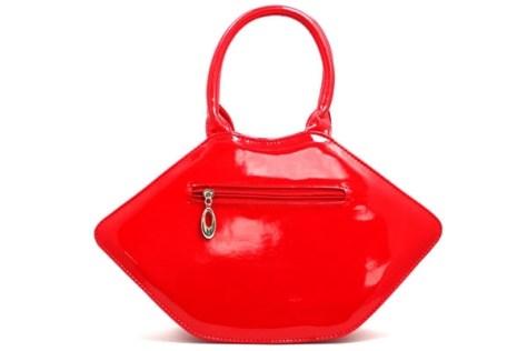 Red Patent Vinyl Lips Handbag