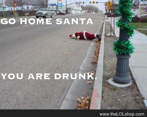 Santa is Drunk
