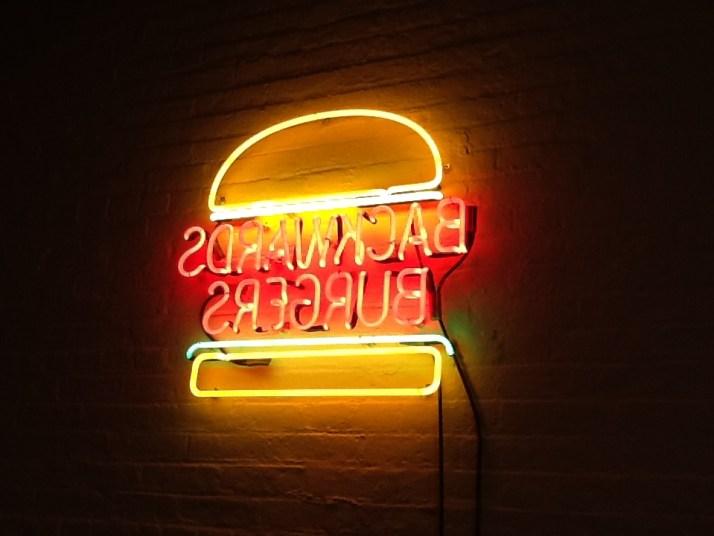 Backward Burger Neon Sign By David Shrigley