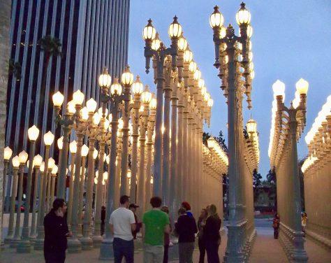 Chris Burden Urban Light By Gail Worley