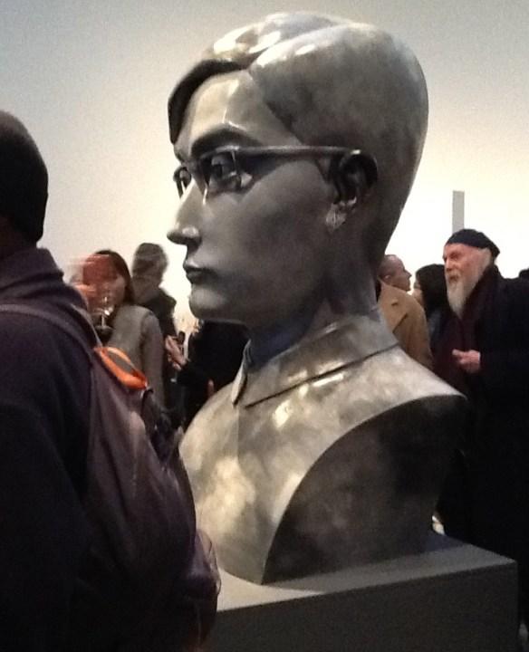 Zhang Xiaogang Boy Sculpture