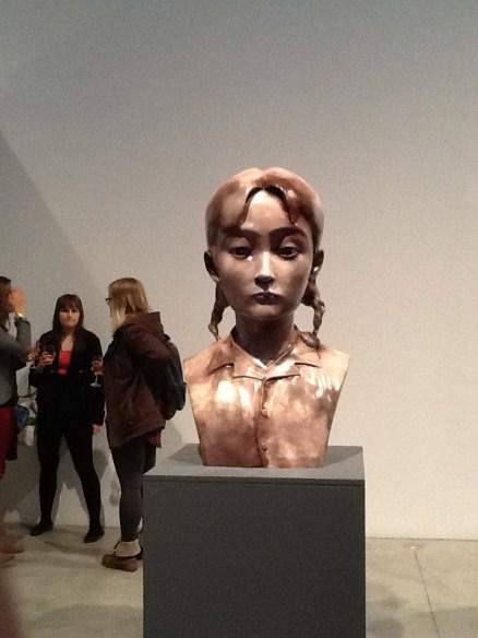 Zhang Xiaogang Girl Bronze Bust