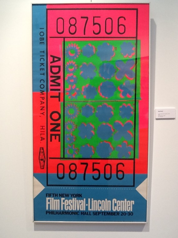 Andy Warhol Lincoln Center Ticket