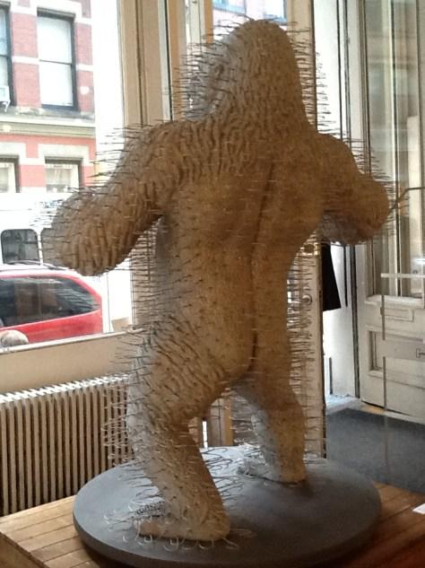 David Mach Standing Gorilla