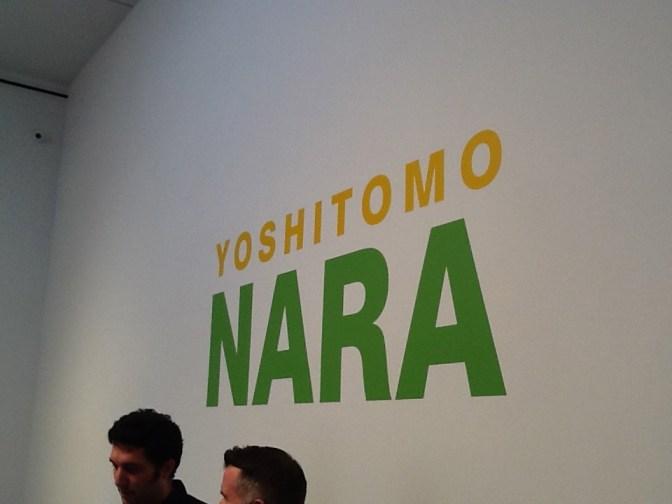 Yoshitomo Nara Exhibit Signage