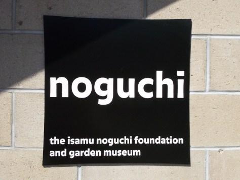 Noguchi Museum Signage