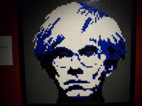 LEGO Portrait of Andy Warhol