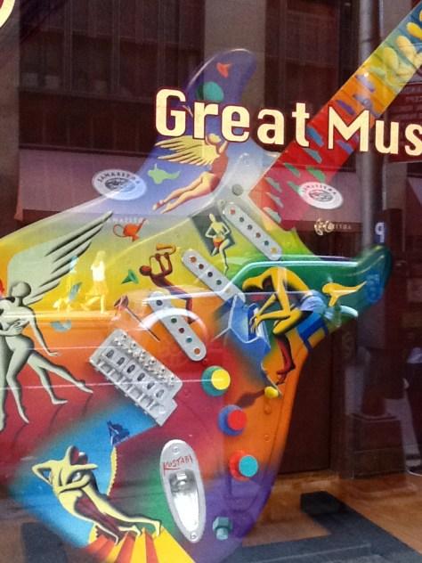 Mark Kostabi Painted Guitar 3