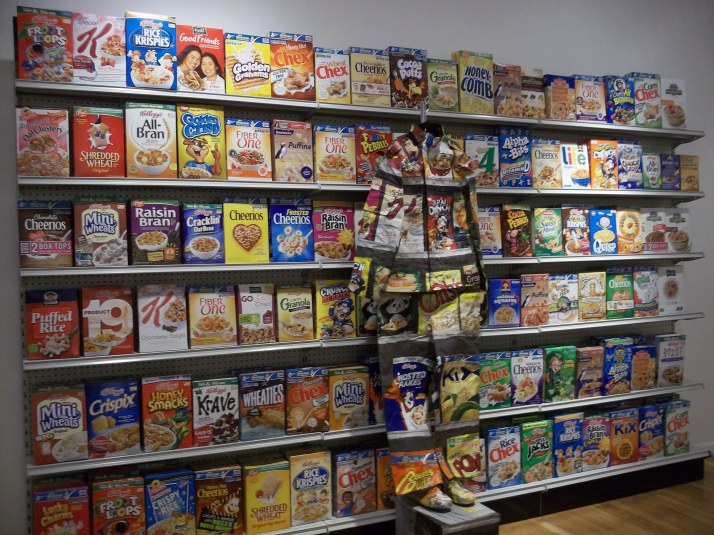 Liu Bolin Cereal Boxes and Suit 2