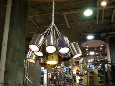 Paint Can Chandelier