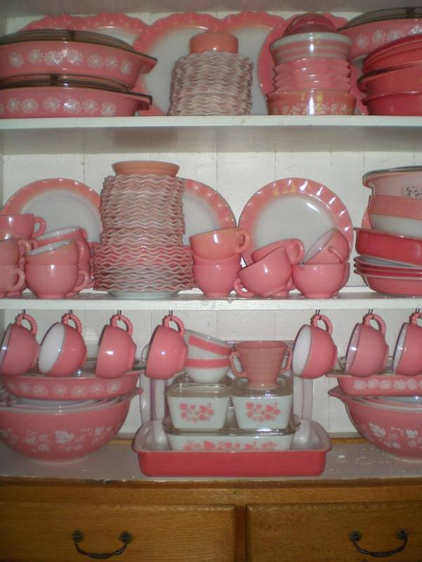 Pink Pyrex Set