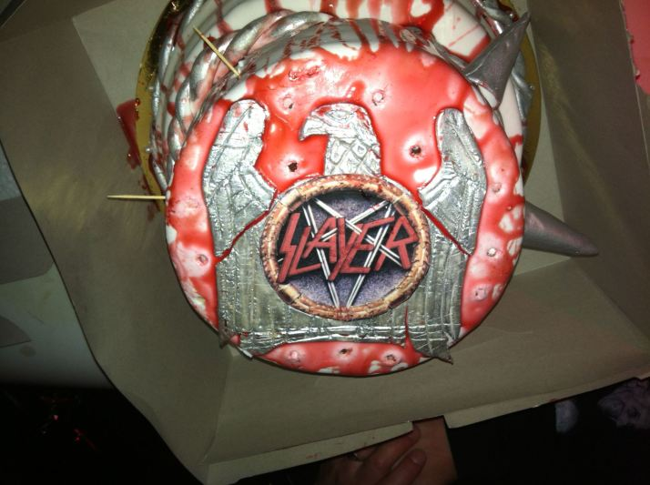 Slayer Birthday Cake Top View