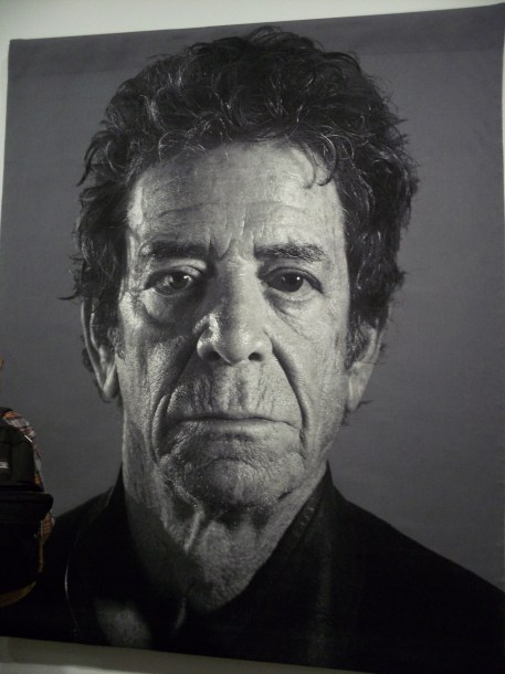 Lou Reed Portrait By Chuck Close
