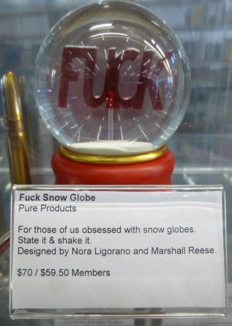 Fuck Snow Globe