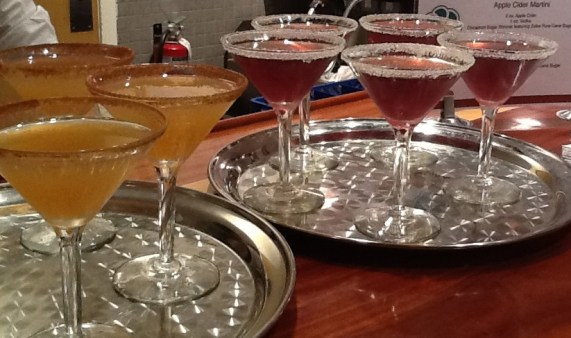 Apple Cider and Pomegranate Martinis